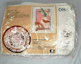1986 NEW Calla Lilies 844 Embroidery Cat Kitten Creative Circle Kit Unop... - $9.89