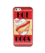 Tasty Hot Dog Theme Pattern Plastic Case Skin Cover For iPhone 5 5S - $6.58