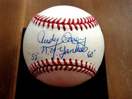 ANDY CAREY 2X WSC NEW YORK YANKEES 3RD BASEMAN SIGNED AUTO VTG BASEBALL ... - $148.49