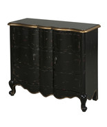 Powell Black 2-Door Scalloped Chest - $389.00