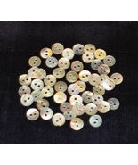 Mini Round Mother Of Pearl Buttons 5/pkg .50 in... - $2.00
