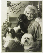 BETTY WHITE SIGNED AUTOGRAPHED 8X10 PHOTO TO AARON w/COA THE GOLDEN GIRLS  - $100.00