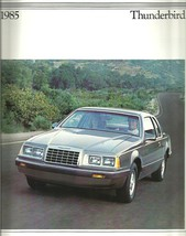 1985 Ford THUNDERBIRD sales brochure catalog US 85 Turbo elan Fila - $8.00