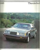 1985 Ford THUNDERBIRD sales brochure catalog US 85 Turbo elan Fila - $8.00