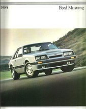 1985 Ford MUSTANG sales brochure catalog 2nd Edition US 85 LX GT SVO - $9.00