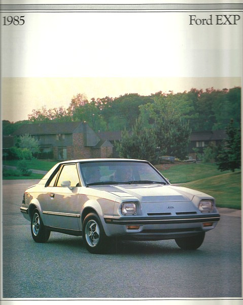 Primary image for 1985 Ford EXP sales brochure catalog 85 US Luxury Turbo Escort