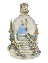 Disney Cinderella SO THIS IS LOVE Musical Light Up Clock Snow Globe Spins Rare! - $92.57