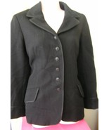1970s vintage heavy black wool anne klein blazer jacket size extra small... - $49.49