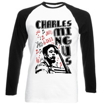 Charles Mingus Jazz - New Black Sleeved Baseball Cotton Tshirt - $26.91