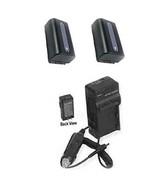 2 Batteries + Charger for Sony NEX-VG30H NEX-VG30E NEX-VG900 NEX-VG900K ... - $44.83