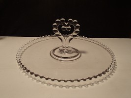 CANDLEWICK CENTER HANDLED HEART SHAPED SANDWICH TRAY~~ - $14.99