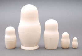"Blank wooden nesting doll unpainted nesting doll 5 pc, 6.6"" - $25.90"