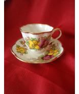 Salisbury Bone China Pansy Pattern # 1878 Tea cup and Saucer Set - $45.00