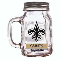 New Orleans Saints Mason Jar Mug 16oz NFL