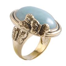 Barse Mariposa Metal Amazonite Butterfly Ring - $62.13