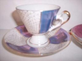 * Norleans Golden Blue Demitasse cup saucer 1950's Vintage - $17.28