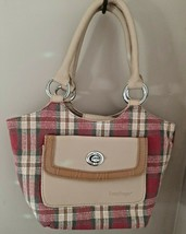 LONGABERGER Purse Red Plaid Unique Handbag Homestead - $17.75