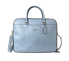 Coach Crossgrain Leather Laptop Bag (Cornflower) (Cornflower) - $268.68