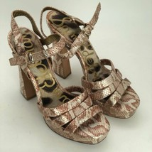 Sam Edelman Taryn Size 8.5 Snakeskin Heels Open Toe Sandals NEW - $56.07