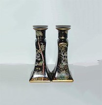 Grape Leaf Design Stoneware Candlesticks - $12.95