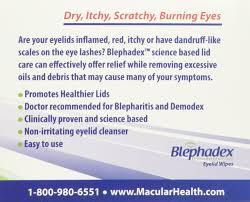 Blephadex eyelid scrub 30ct