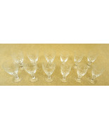 Etched Crystal Wine Glasses 2 sets of 6 - $74.13