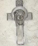 Crucifix - Peltro Cesellato a Mano -Italy - $11.00