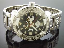 New! Aqua Master Round 20 Diamonds Watch Black Face - $173.99