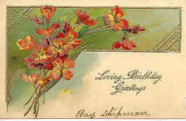 Loving Birthday Paul Finkenrath of Berlin 1911 Post Card - $6.00