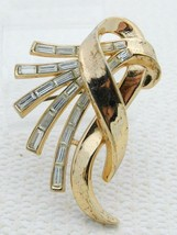 VTG 1953 TRIFARI PAT PEND Alfred Philippe Clear Rhinestone COMET Pin Brooch - $99.00