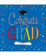 Congrats Star Grad Graduation Blue Napkins 16 ct Lunch or Beverage Party - $3.99