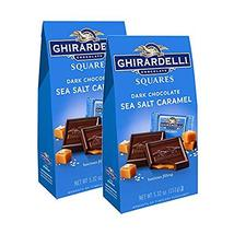 Ghirardelli Dark and Caramel Sea Salt, Chocolate Squares, 5.32 oz. (Pack of 2) - $16.84