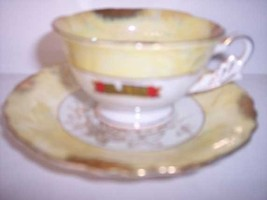 * Shafford Yellow  Demitasse cup & saucer Vintage 2 - $15.98