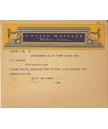 *Shirley Temple THE LITTLE COLONEL (1935) Congratulatory Telegram to Sou... - $35.00