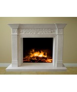 Cream White Marble Fireplace Surround Mantel Family Great Room FPS-23 65... - $3,198.00