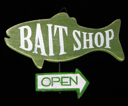Bait Shop Fishing Wooden Christmas Ornament - $9.98