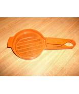Tupperware Orange Vintage HAND SIFTER & Paddle #1492 & #1689 ~ Cool! - $19.99