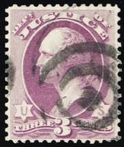 O27, Used 3¢ Justice Dept Official Stamp Cat $35.00 - Stuart Katz - $30.00