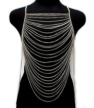 Body Chain Draping Chains Armor Silver Armour S... - $26.99