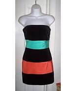 Vtg Velvet Stripe Colorblock Dress BARBOGLIO CRISTINA JAN Sz 6 Pristine - $99.00