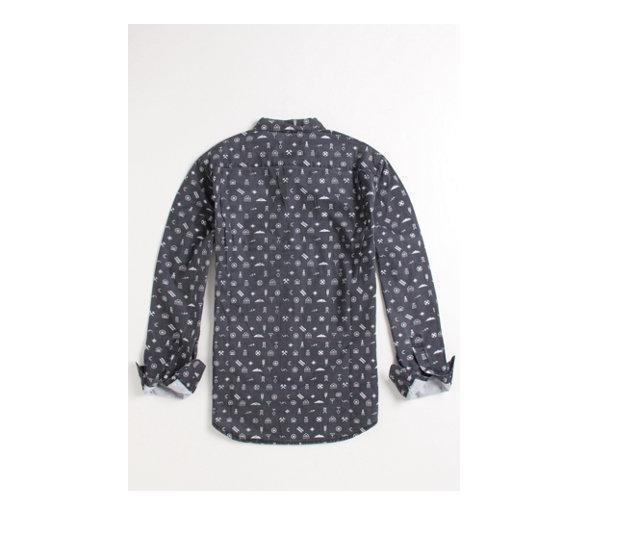 MEN'S GUYS RVCA GHOST TOWN SLIM FIT WOVEN BUTTON-UP LONG SLEEVE SHIRT NEW $60