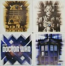 Doctor Who 4 Piece Ceramic Coaster Set 4 Piece Square Tardis Cyberman Da... - $5.39