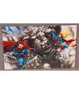 DC Superman & Supergirl vs Doomsday Glossy Print 11 x 17 In Hard Plastic... - $24.99