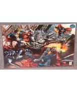 DC Many Faces Of Superman vs Doomsday Glossy print 11 x 17 In Hard Plati... - $24.99