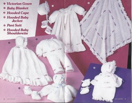 RARE~Lacy Layette Crochet Pattern~Annie's Attic~Dated 1987 - $29.99