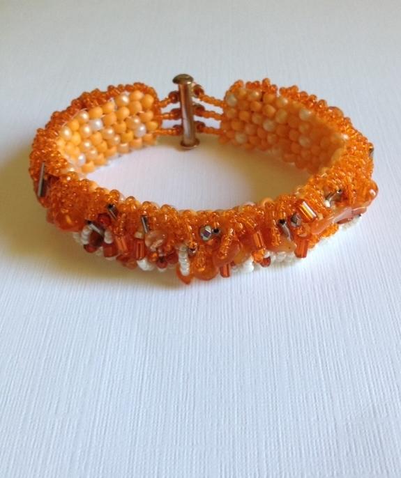 Carnelian Orange Bracelet beaded