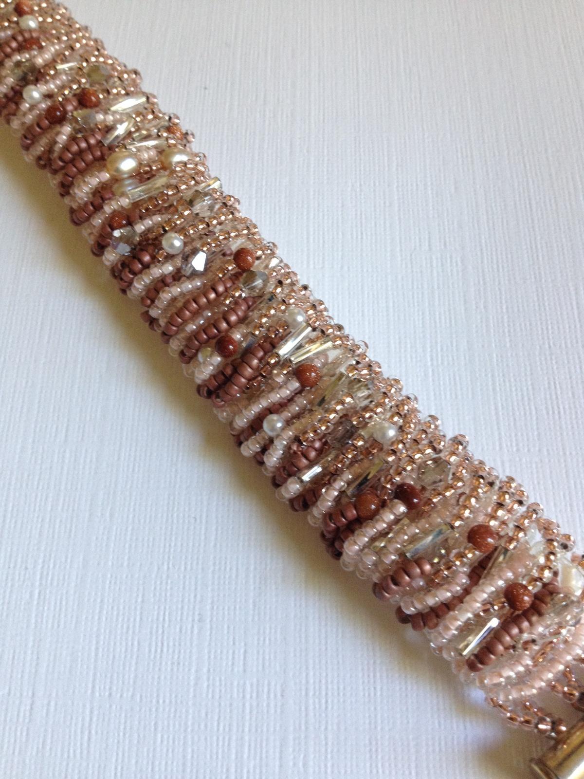 Moonstone Pearl Crystal Bracelet beaded
