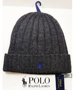 Polo Ralph Lauren Wool Winter Cuffed Ribbed Beanie Cap Signature Logo PP... - $29.25