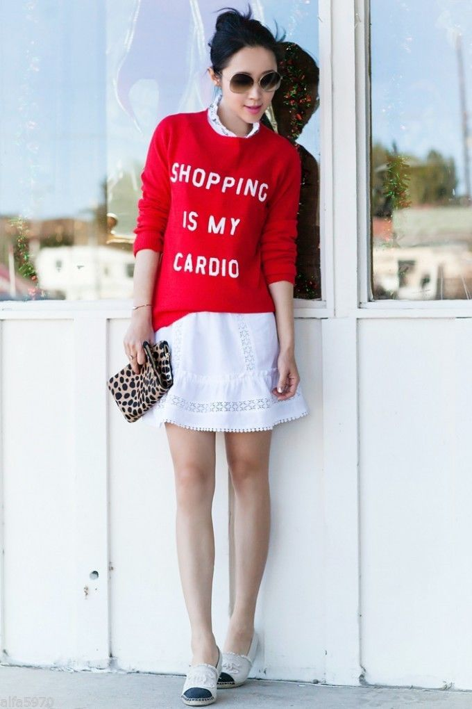 WILDFOX White Label SHOPPING IS MY CARDIO SEQUIN SWEATER - SIZE M - NWT