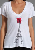 Wildfox Couture Eiffel Tower V neck Tee - Size M - NWT - $47.52